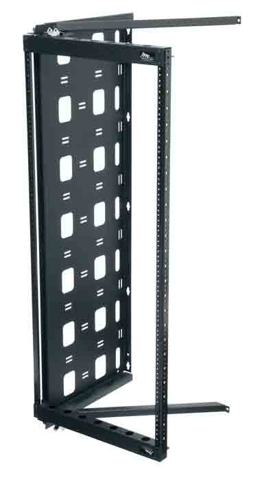 12U Open Wall Mount Frame Rack with Hinge  FREE SHIPPING