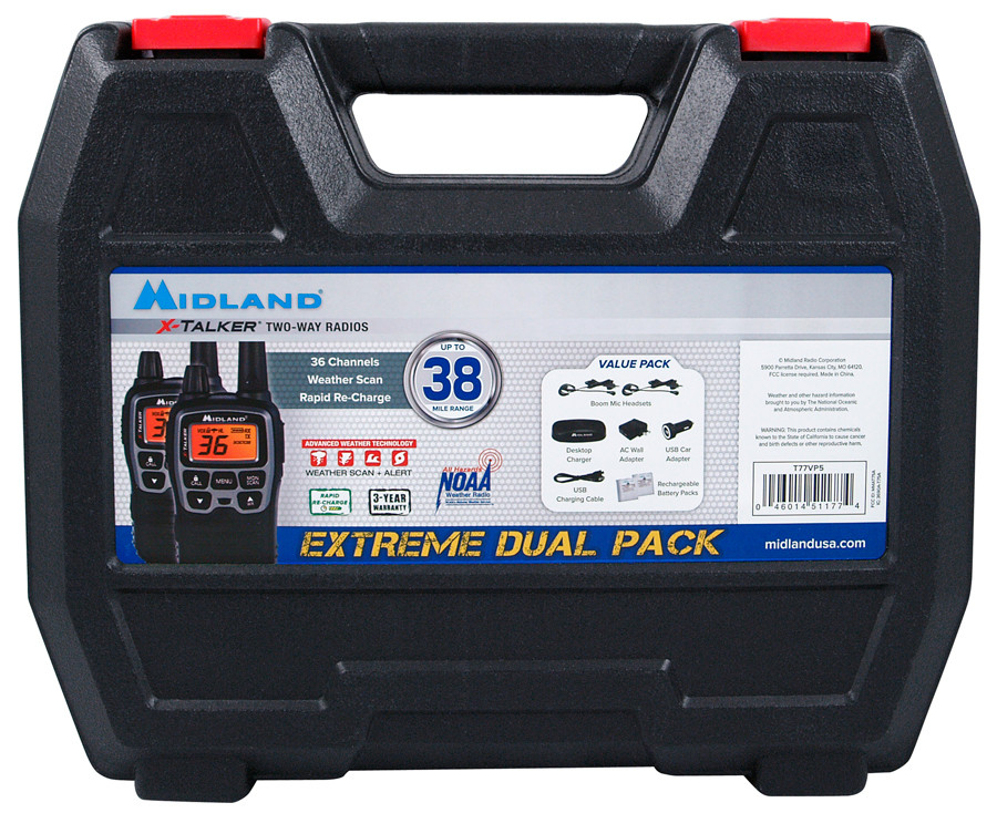MIDLAND X-TALKER Extreme Dual Pack Two-Way GMRS Radios