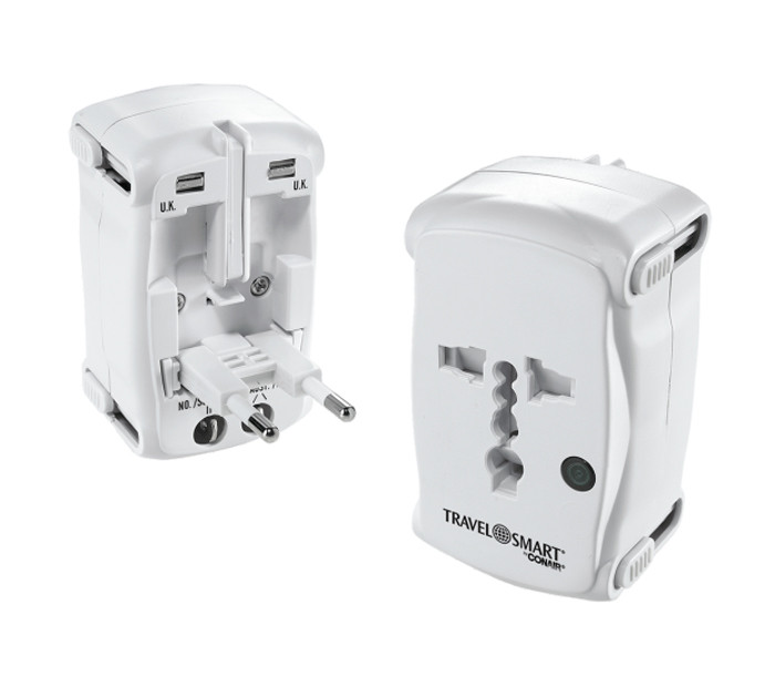CONAIR Travel Smart All-in-One Adatper Plug with Surge Protection