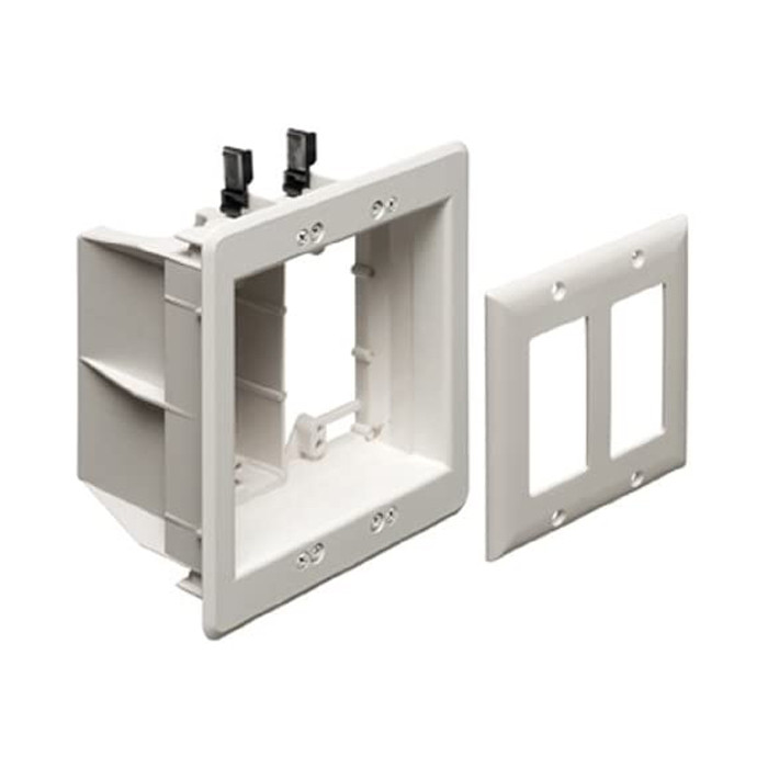 ARLINGTON Two-Gang Recessed TV Box for Power and Low Voltage
