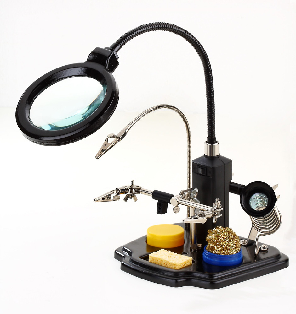 ELENCO LED Magnifying Lamp with Third Hand