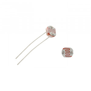 NTE LDR-Photoresistor 5mm 150VDC Light Resistance 100-200K Ohm Dark Resistance 10M Ohm 10pk