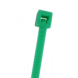 "NTE Cable Ties 5.84"" 40# Green 100pk"