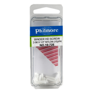"PHILMORE 2-56 x 1/2"" Nylon Binder Head Screws 15pk"