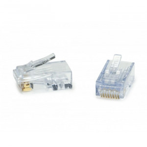 PLATINUM ezEX38-ezEX-RJ45 Cat5e/Cat6 Connector for EXO Tool - 50 Pack