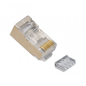 PLATINUM Standard CAT6 Shielded, 2 Piece High Performance RJ45 Connectors 10-Pack