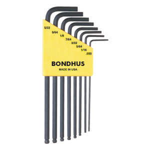 BONDHUS ProGuard Ball End 8 piece Inch Hex Set