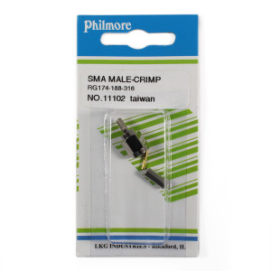 PHILMORE SMA Male Crimp Type Connector for RG174