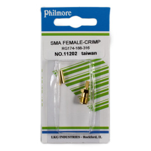 PHILMORE SMA Female Crimp Type Connector for RG174