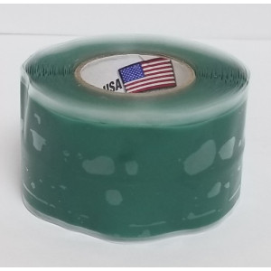 PHILMORE Silicone Tape Green 10ft