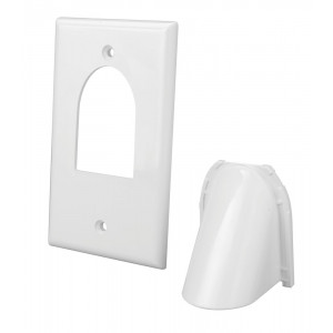 VANCO White Two-Piece Bulk Cable Wall Plate