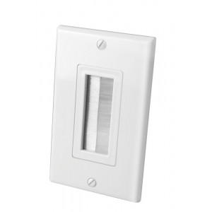 VANCO White Single Decora Brush Style Wall Plate