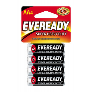 EVEREADY Super Heavy Duty AA Battery 4pk