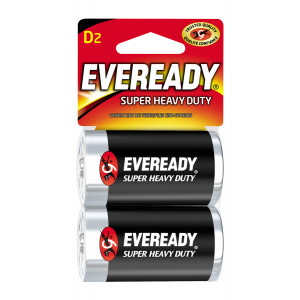 EVEREADY Super Heavy Duty D Battery 2pk
