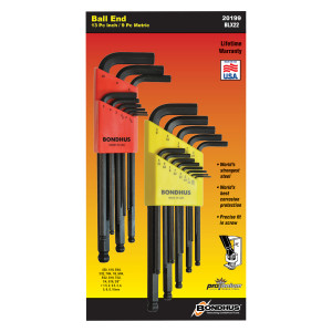 BONDHUS ProGuard 22 piece Hex Set Inch/Metric