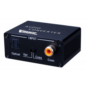 VANCO Toslink/Digital Coax to Toslink/Digital Coax Audio Converter with Dual Outputs: