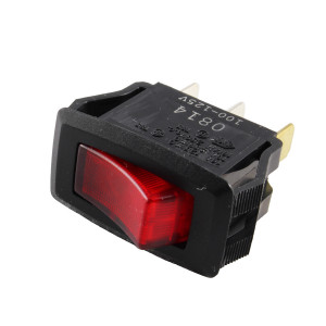 PHILMORE SPST On-Off Snap-in Rocker Switch Lighted 110V