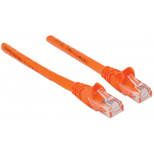 INTELLINET CAT6 Patch Cable 1ft Orange