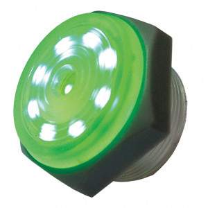 PHILMORE Green Lighted Piezo Sounder - Continuous Tone