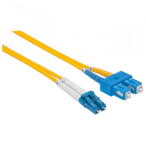 INTELLINET Fiber Optic Patch Cable 2m LC to SC