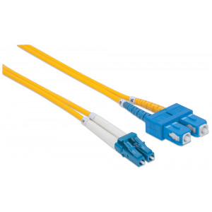 INTELLINET Fiber Optic Patch Cable 20m LC to SC