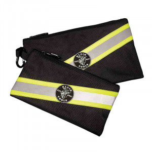 KLEIN High Visibility Zipper Bags 2pk