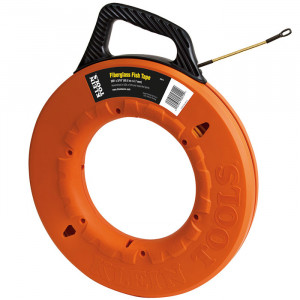 KLEIN Fiberglass Fish Tape with Spiral Leader, 200-Foot