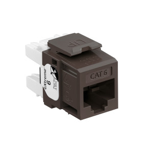 LEVITON eXtreme Cat 6 QuickPort Jack, Brown