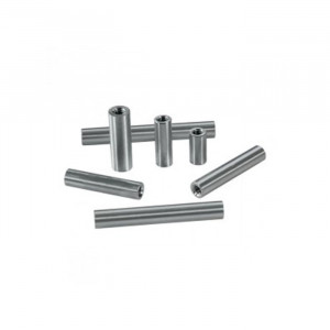 "ACTOBOTICS 6-32 Thread, 1/4"" OD Round Aluminum Standoffs (4 Pack) 0.875"" (7/8"") Length"
