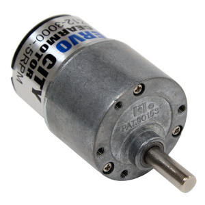 ACTOBOTICS 20 RPM Gear Motor 6mm Shaft diameter 37mm OD body diameter