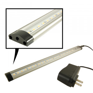 "NTE 39 LED Dimmable Light Bar 19.68"" White with Power Supply"