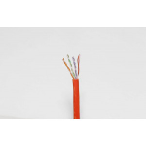 Remee CAT6 Plenum Cable 500ft Pull-out Box Orange