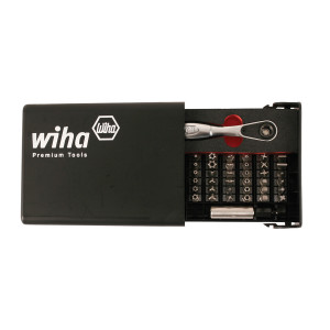 WIHA 38 piece Security Bit Set with Ratchet Handle
