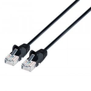 INTELLINET CAT6 Patch Cable 7ft Black Slim