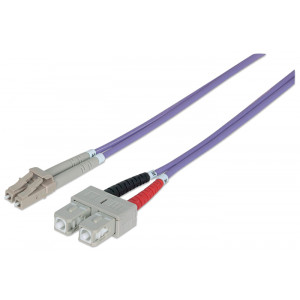 INTELLINET Fiber Optic Patch Cable 3m LC to SC
