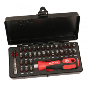 WIHA 34pc Terminator Bit Set with 3K Bit Holder