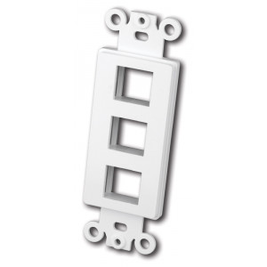 VANCO Quickport Decora Plate 3-Port White