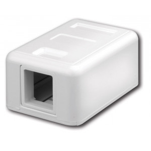 VANCO Surface-Mount Quickport Box 1-Port White