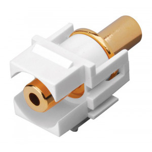 VANCO 3.5mm Keystone Insert White