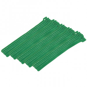 "Eclipse Hook & Loop Cable Ties 8"" Green 25 pack"