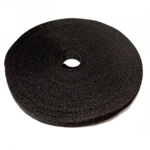"ECLIPSE 3/4"" Wide Hook and Loop Tape Black (50 ft)"