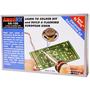 ELENCO Learn to Solder Kit with Soldering Iron & Cutters