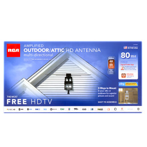 RCA Amplified Outdoor/Attic HDTV Antenna