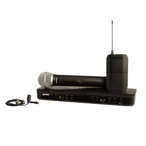 SHURE Dual Combo Wireless Mic System 1 Handheld/1 Lavalier