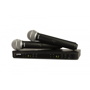 SHURE Dual Handheld PG58 Wireless Mic System