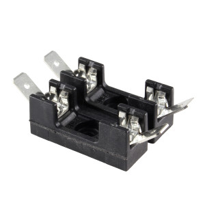 "BUSSMANN Fuse Block for 1/4"" x 1-1/4"" Fuses"
