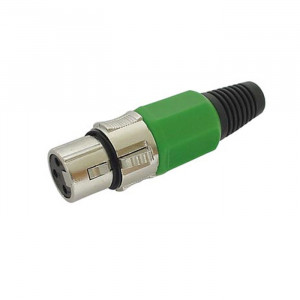 VELLELMAN 3-pin XLR Jack, Nickel-plated - Green