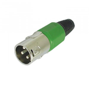 VELLELMAN 3-pin XLR Plug, Nickel-plated - Green