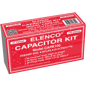 ELENCO Capacitor Assortment 100 pieces