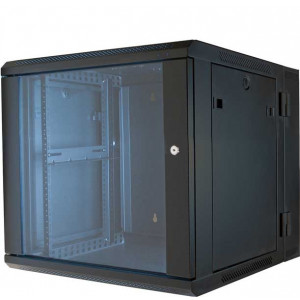 "VMP 19"" Equipment Hinged Wall Rack Enclosure 9U"